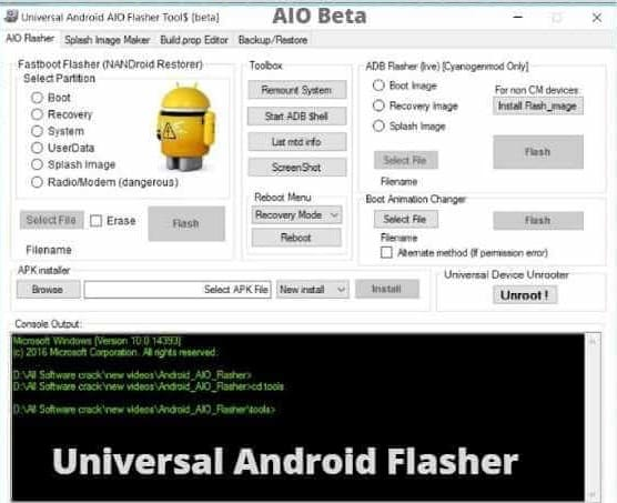 Universal-Android-AIO-Flasher